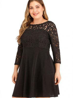 elegant plus size dress fashion curvi feminine thiara 2020