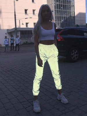 thiara 2020 women's fashion modern reflective pants